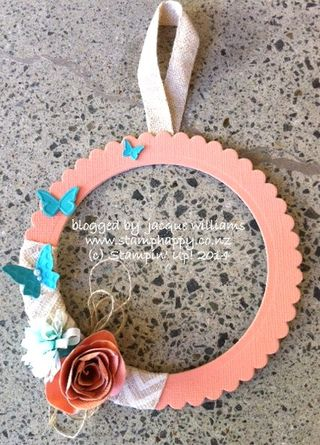 Stampin up mini wreath spiral flower