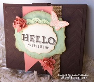 Stampin up envelope punch board box hot chocolate sachet