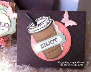 Stampin up hot chocolate sachet pouch giftable