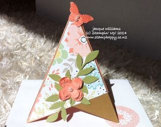Stampin up tripod teepee card sweet sorbet