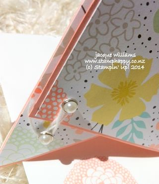Stampin up teepee card pearl brad