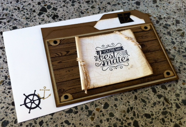 Stampin up pirate masculine file folder hello sailor