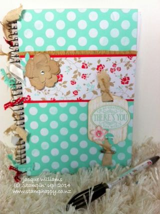 Stampin up fresh prints altered notebook chalk talk