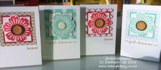 Stampin up fresh prints flower punch mixed bunch