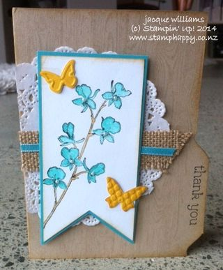 Stampin up happy watercolor hardwood file folder