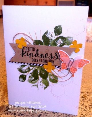 Stampin up kinda eclectic blackberry bliss