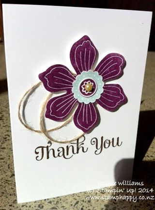 Stampin up fun flower a bloom for you blackberry bliss