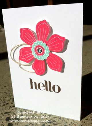 Stampin up a bloom for you simple workshop fun flower