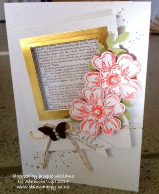 Stampin up flower shop vintage butterfly dictionary