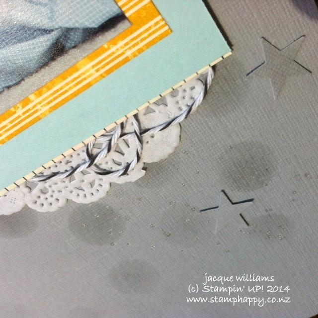 Stampin up layout masks dots scrapbooking doily
