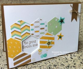 Stampin up hexagon punch window card