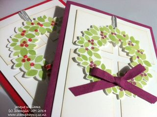Stampin up wondrous wreath quick easy christmas
