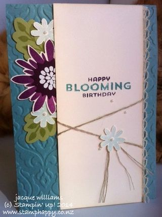 Stampin up flower patch kristine mcnickle blackberry bliss vintage card