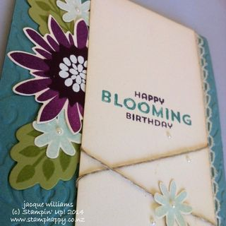 Stampin up flower patch vintage lost lagoon blackberry bliss
