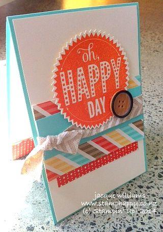 Stampin up retro fresh masculine birthday card