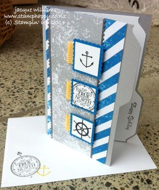 Stampin up hello sailor high tide masculine
