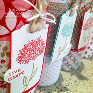 Stampin up fresh prints simple stems altered tin