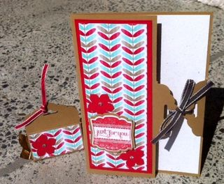 Stampin up scallop tag topper card fresh prints