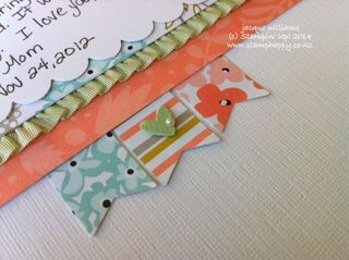 Stampin up sweet sorbet banner punch scrapbook