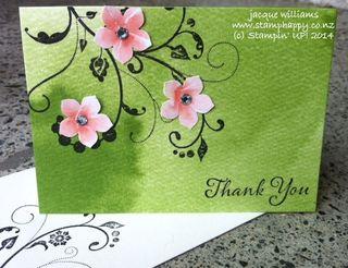 Stampin up watercolour wonder designer note cards flourish