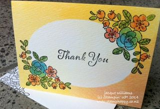 Stampin up watercolour wonder so very grateful