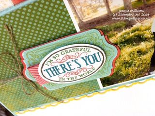 Stampin up epic day chalk talk title layout