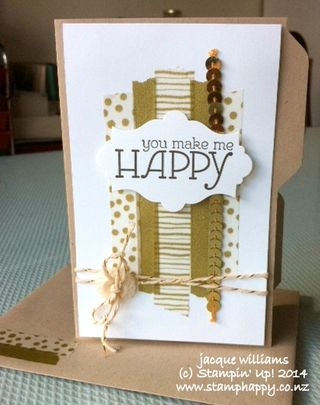 Stampin up watercolor wonder gold sequin mary fish