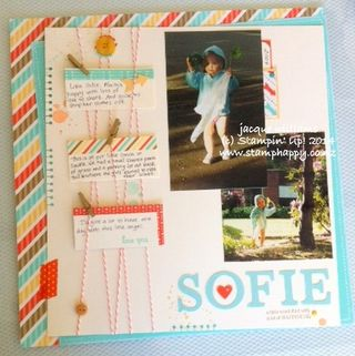 Stampin up retro fresh layout twine gorgeous grunge