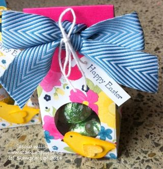 Stampin up easter treat pouch gift bag