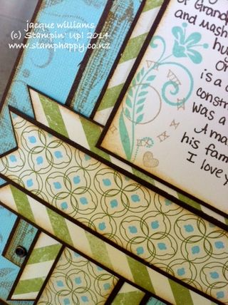 Stampin up clockworks hardwood flowering flourishes from my heart layout scrapbooking