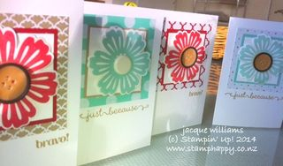 Stampin up blossom punch fresh prints mixed bunch