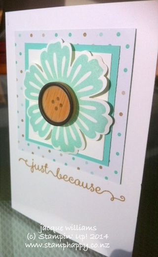 Stampin up mixed bunch blossom punch quick easy workshop card
