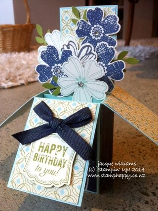 Stampin up flower shop card in a box