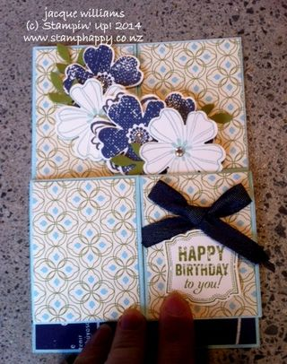 Stampin up flower shoppe fancy fold etcetera masculine