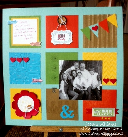 Stampin up hello lovely coredinations grid layout