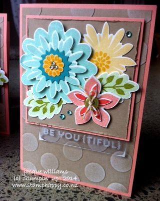 Stampin up flower patch flower fair vintage