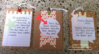 Stampin up hip hip hooray mini album tags