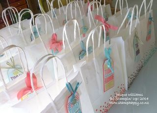 Stampin up amazing birthday extravaganza bags