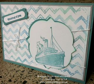 Stampin up traveller travellor embossing folder ink technique