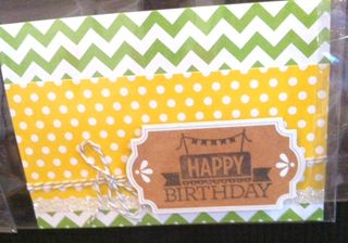 Stampin Up everyday occassions birthday card