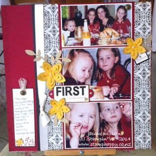 Stampin up typeset flower frenzy layout