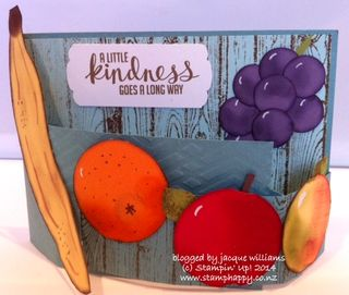 Stampin up fruit bowl curved fancy fold card