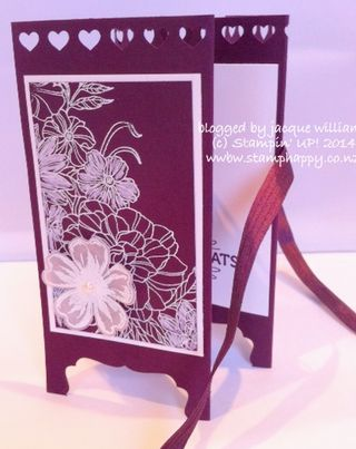Stampin up corner garden blackberry bliss