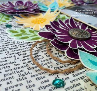 Stampin up typeset flower fair patch scrapbook layout vintage