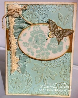 Stampin up hello darling vintage papillon potpourri
