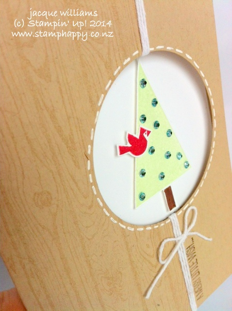 Stampin up festival of trees hardwood cherry cobbler christmas easy fast window