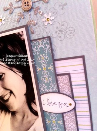 Stampin up all is calm glimmer paper good greetings