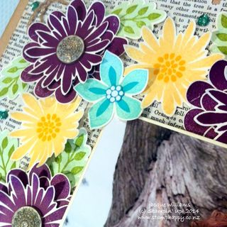Stampin up flower patch fair layout spray blackberry bliss