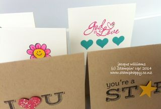 Stampin up lunch box love notes kids positive