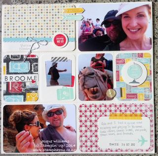 Stampin up flashback project life scrapbooking layout
